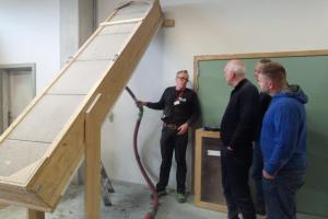 Zellulose Schulung bei der Firma IQ3 ISOPROC in Belgien, mit Unterstützung von Das Isocontor aus Saerbeck D